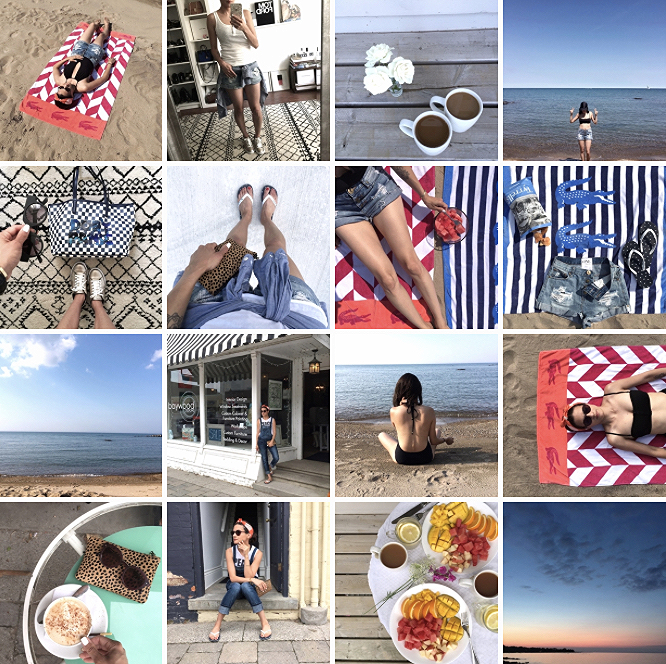 WoahStyle.com-Cottage Style Diary-One Teaspoon cutoff shorts- Lacoste beach towel-Jcrew bikini onepiece bathingsuit-Free People Overalls-Chaser brand Peace Out muscle tee-beach style-MBMJ checkered tote bag-streetstyle.jpg