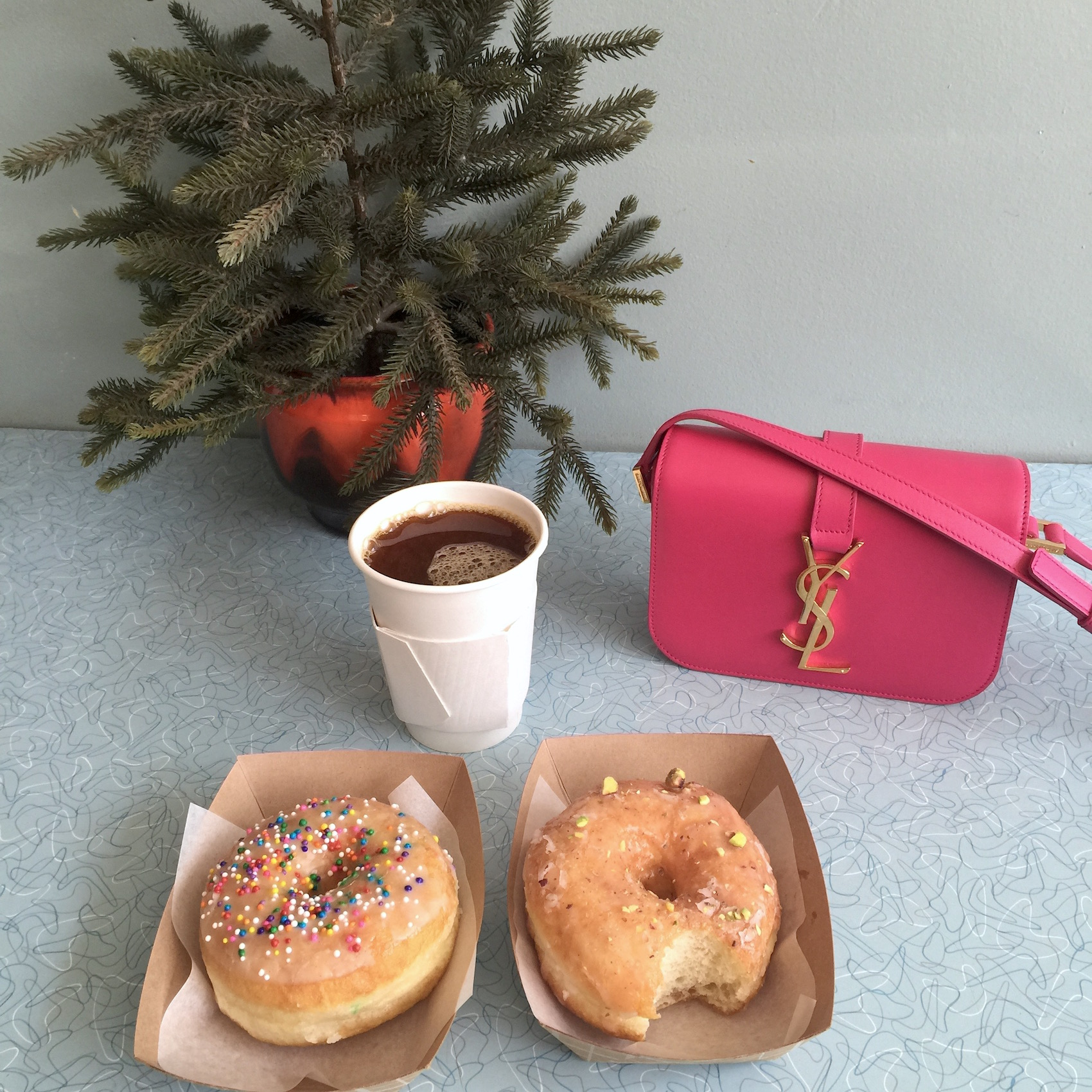 WoahStyle.com_Best of Toronto Mini Food Tour-Diary_Best Handmade Donuts_Glory Hole Donuts_vegan_YSL_Saint Laurent Paris_Pink Monogram cross body bag_4363.jpg
