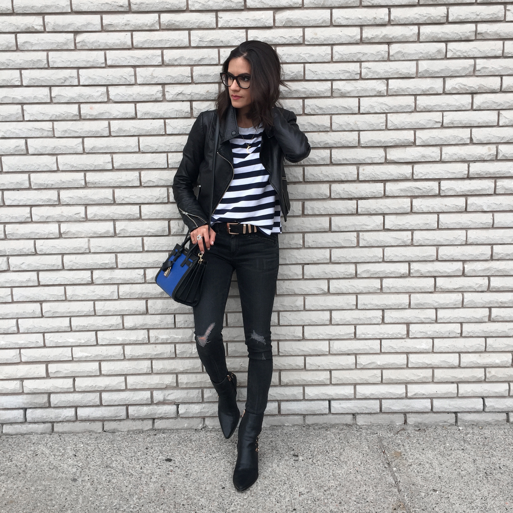 WoahStyle.com_Upper Canada Mall Gorgeous Magazine_Rag and Bone jeans_Mackage leather jacket_Kate Bosworth Matisse Star Boots_YSL Saint Laurent Nano Sac De Jour_Striped Tshirt_OOTD_StreetStyle_Luxe_5198.jpg