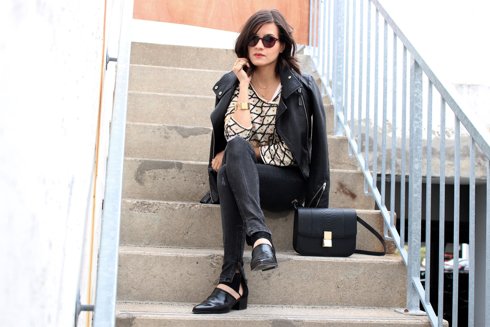 WoahStyle.com_Rag and Bone skinny distressed moto jeans_Free People beaded jacket_Mackage leather jacket_Alexander Wang ankle boots_JCOS box bag_Layered look_Fall 2015_StreetStyle_Luxe OOTD_2605.jpg