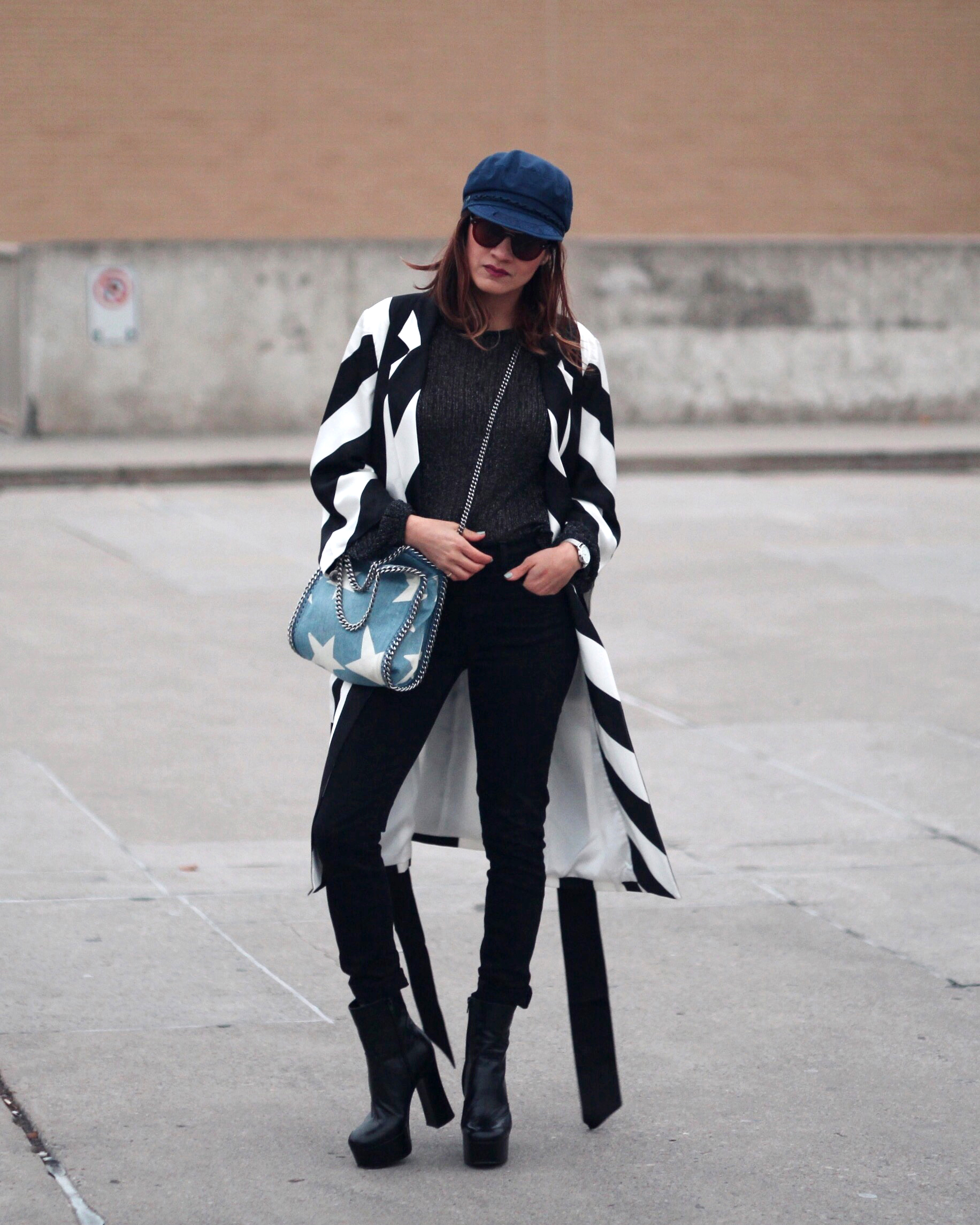 Striped Coat, Stella McCartney denim star bag and Saint Laurent Candy Platform boots-2.jpg