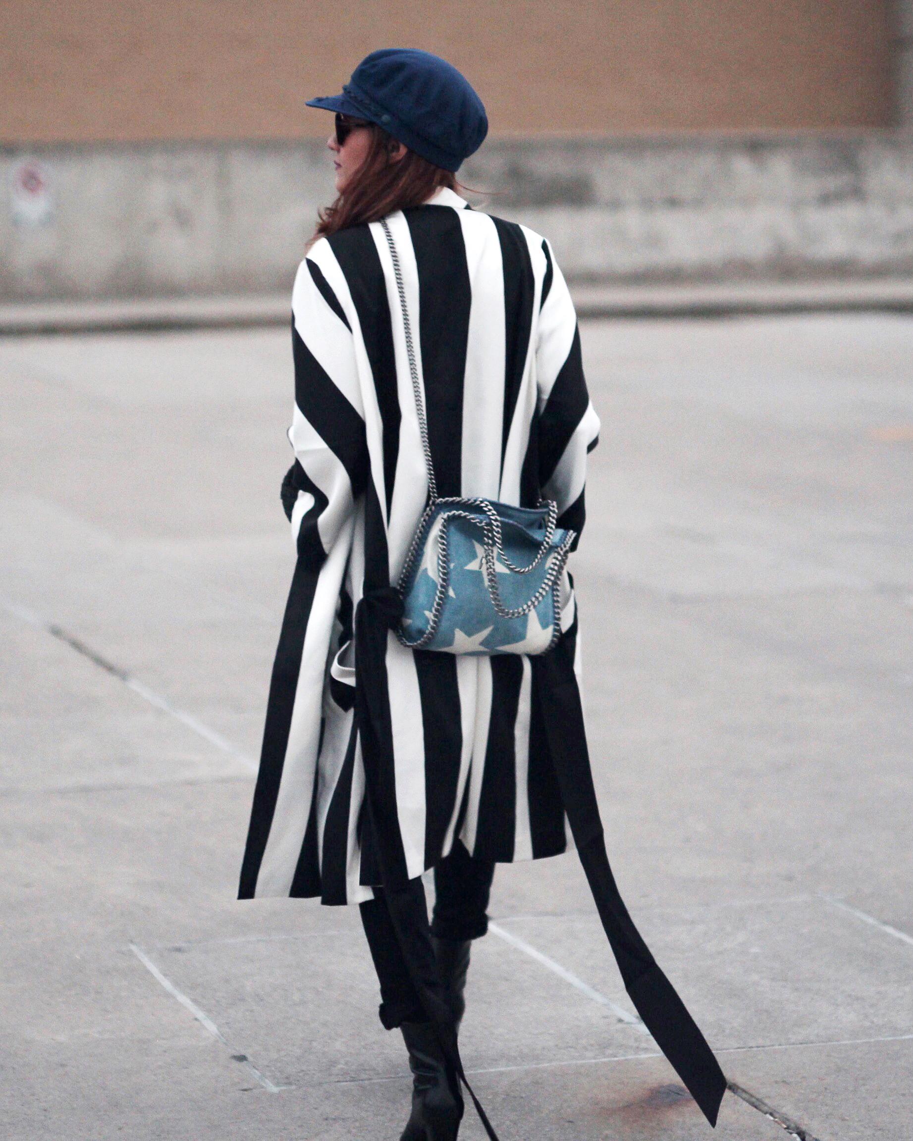 Striped Coat, Stella McCartney denim star bag and Saint Laurent Candy Platform boots-5.jpg