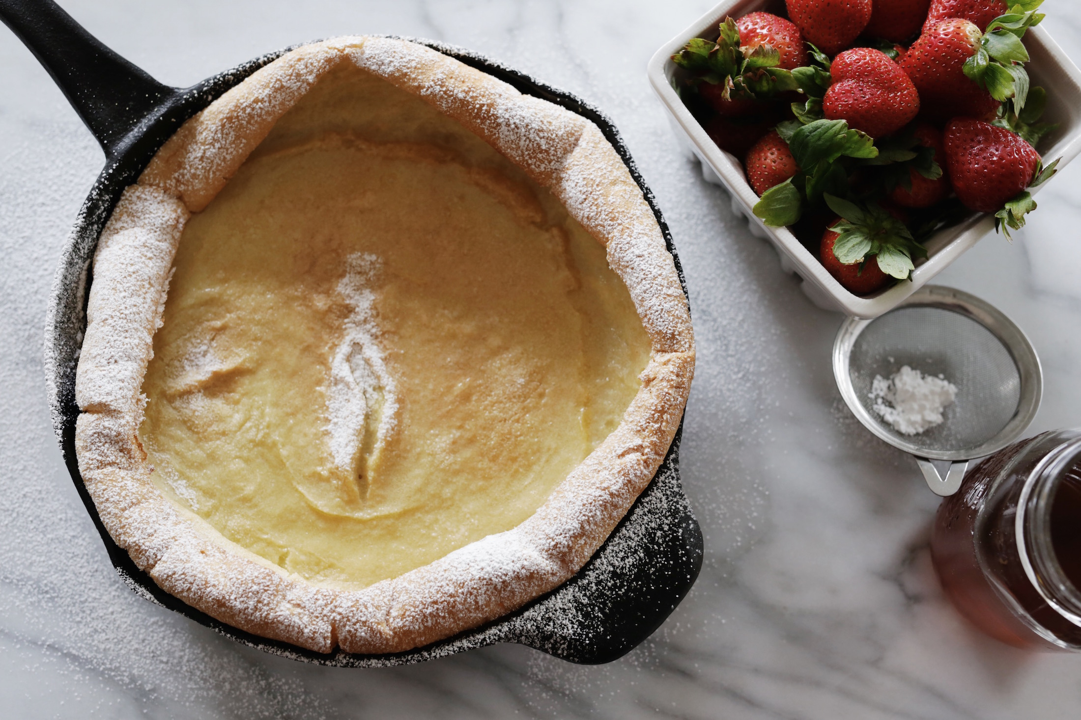 Dutch Baby Pancake. Testing recipes from CHRISSY TEIGEN'S Cravings cookbook. woahstyle.com_7047.JPG