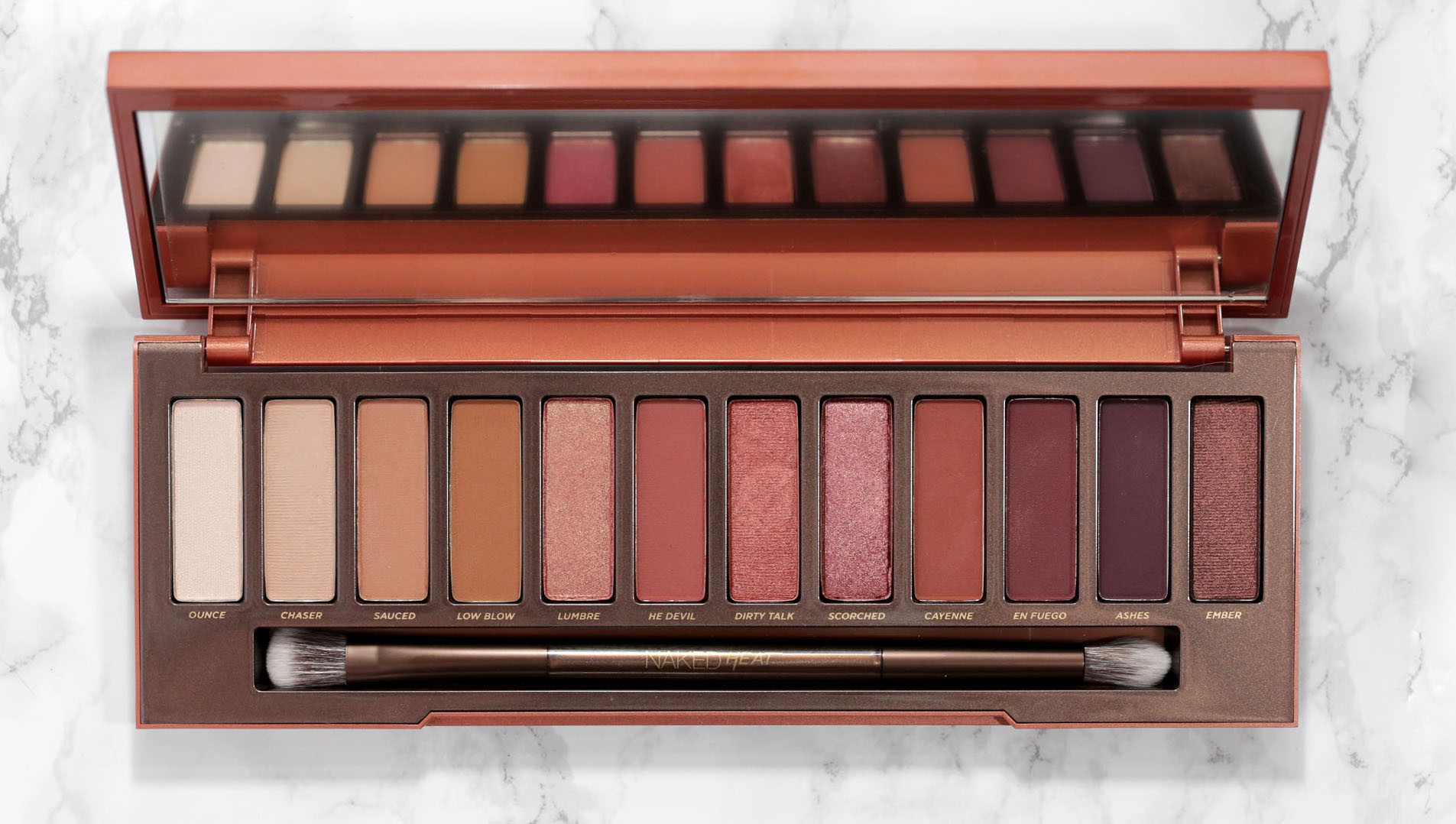 Honest Look At The Urban Decay Naked Heat Palette Woahstyle