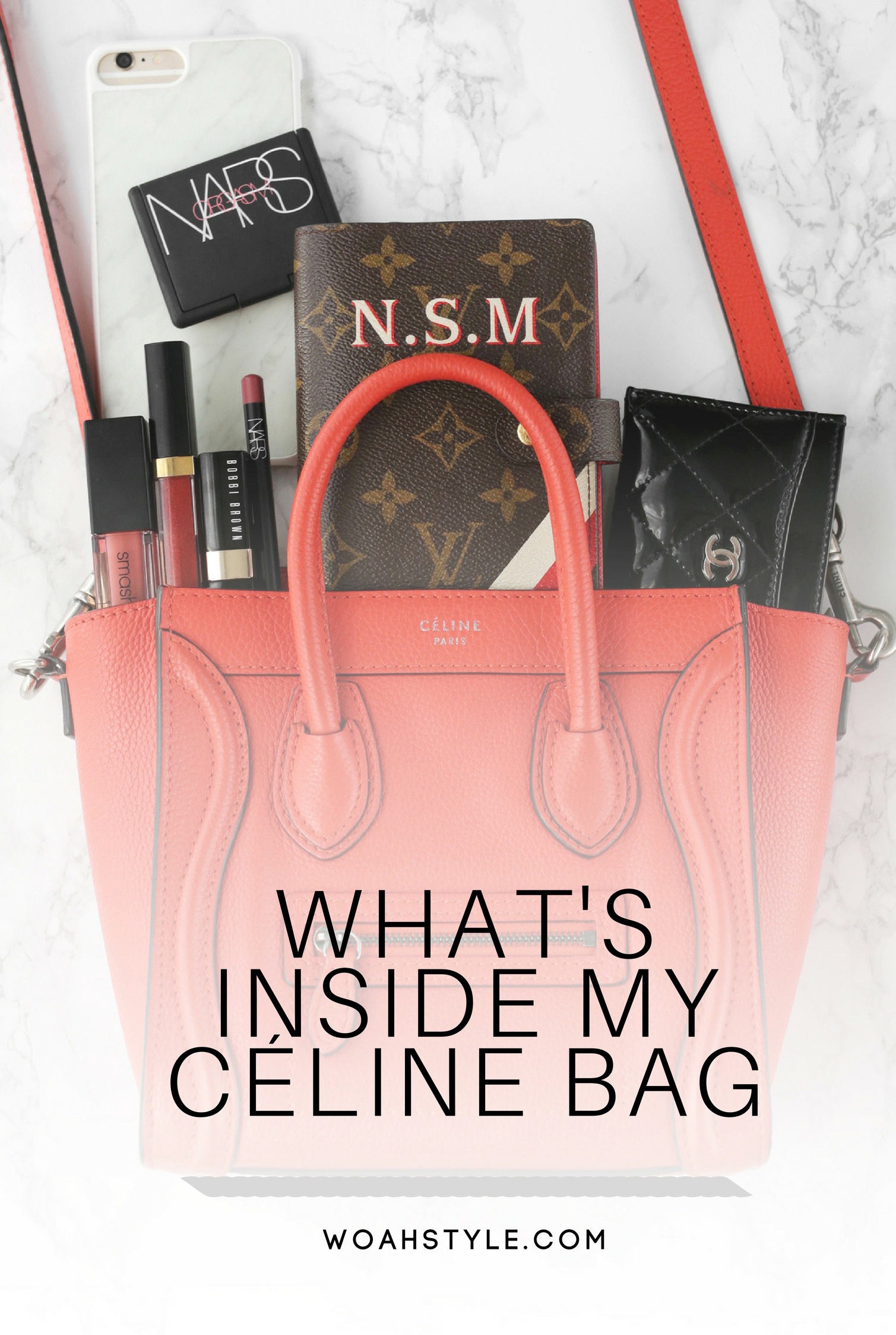 how much can fit in a céline nano luggage bag.jpg
