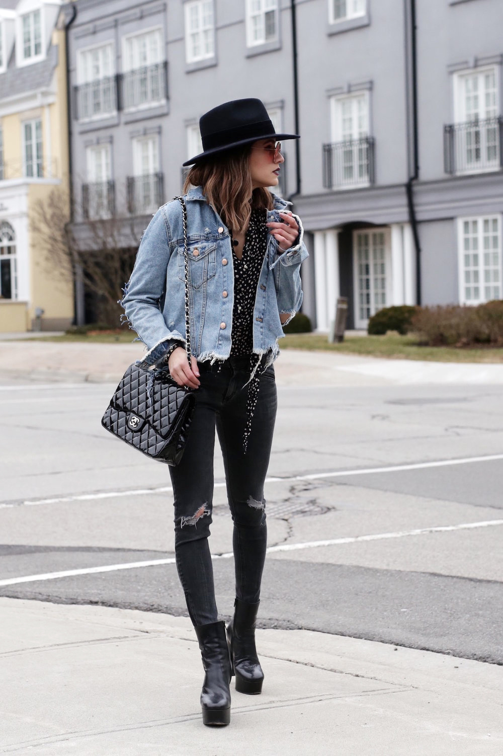 saint laurent platform boots - rag and bone jeans - ripped denim jacket - street style - woahstyle.com - nathalie martin-9.jpg