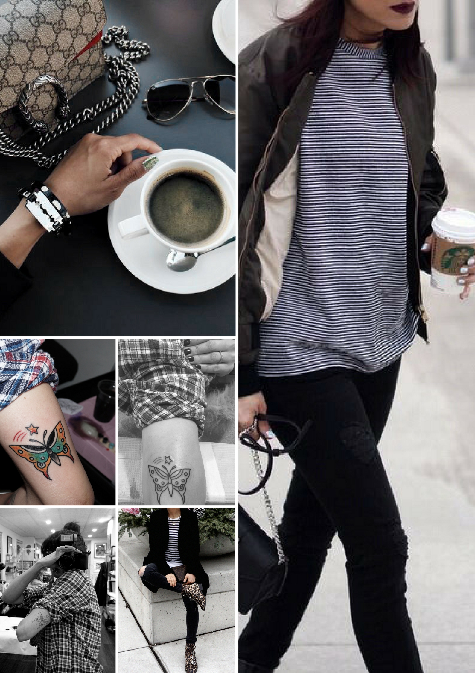 Butterfly tattoo from passage tattoo toronto by german shible -old school - coffee and gucci - street style 1 .jpg