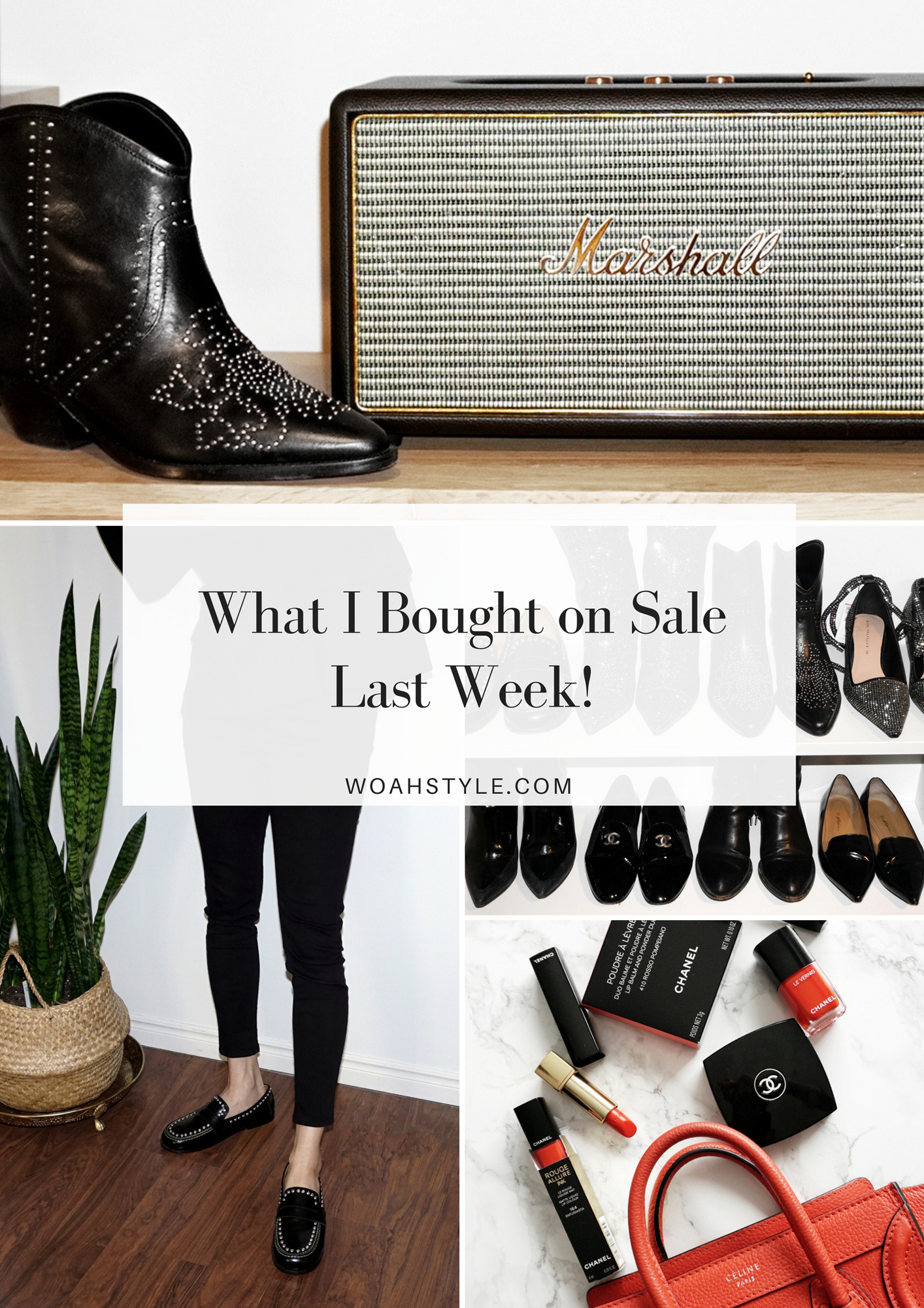 What I Bought On Sale Last Week - Black Dollan Studded Boots, GUNMETAL GLITTER LULIANA BOOTS, Fenzay Studded Loafers, Chanel black patent leather loafers - closet - woahstyle.com - nathalie martin (1).jpg