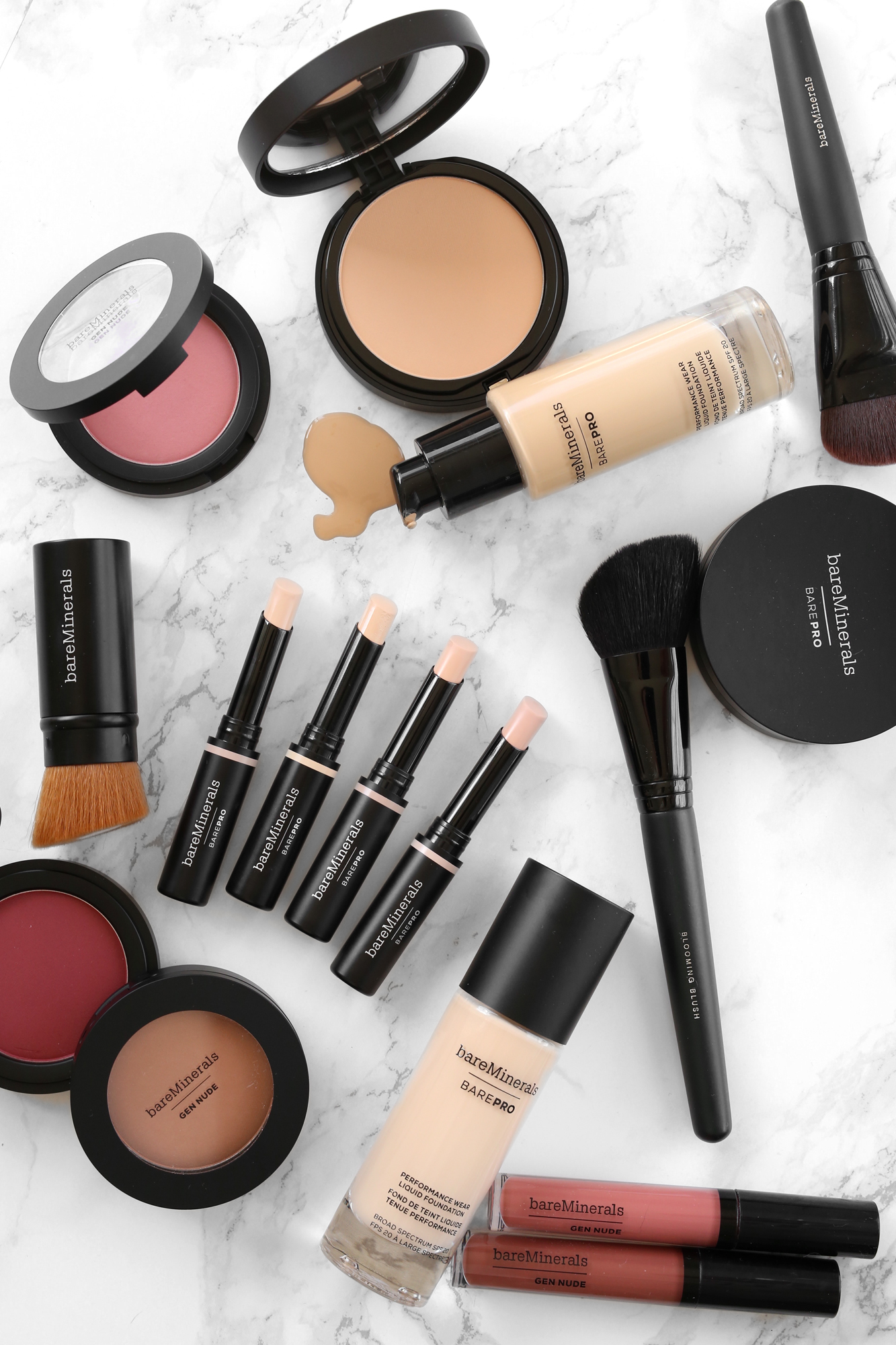 woahstyle.com - bare minerals new full coverage concealer, Gen Nude blush and patent lip lacquer, BAREPRO powder foundation with makeup brushes_8039.jpg