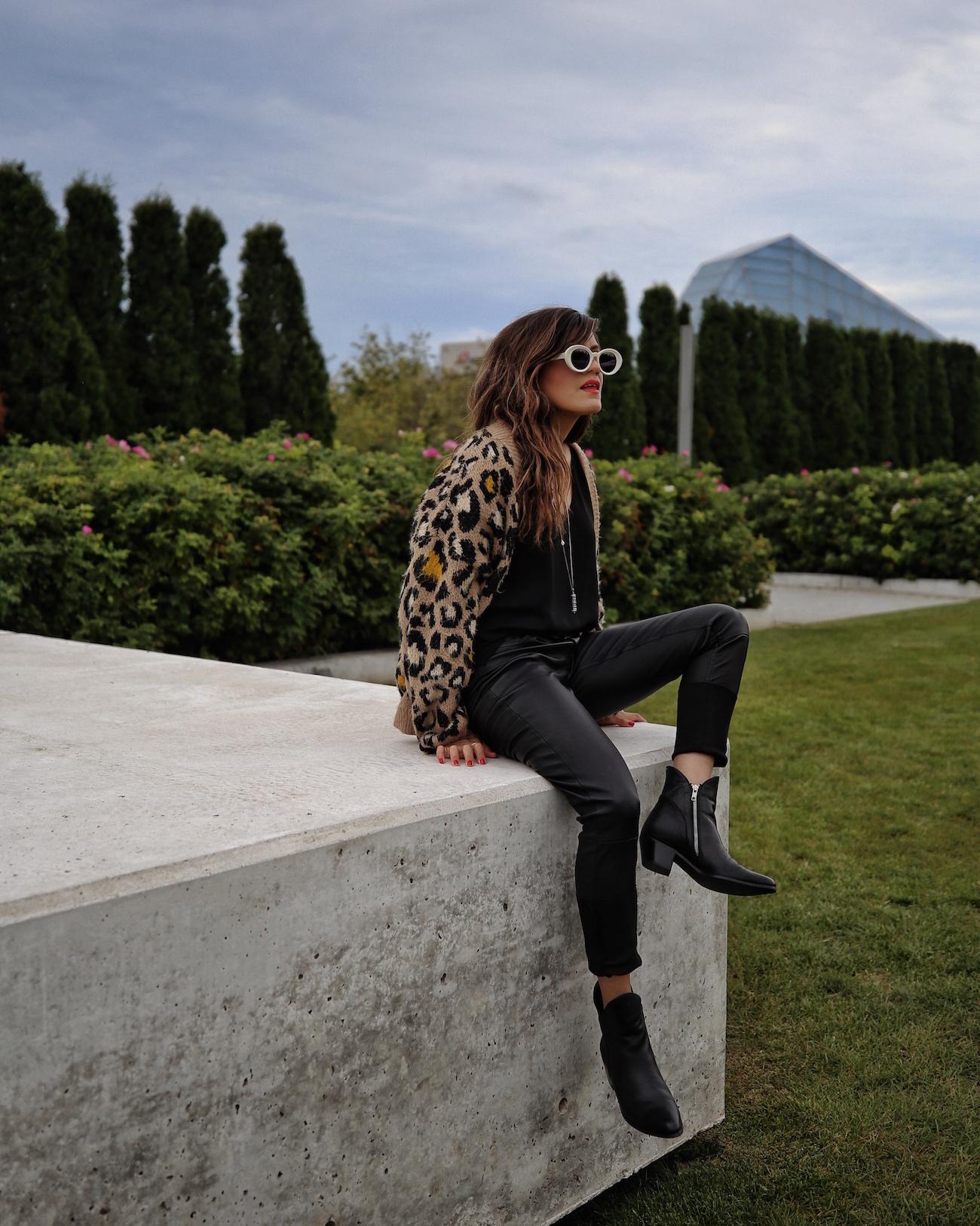 oversized leopard print cardigan, mackage leather pants, cartel miranda boots, nathalie martin - woahstyle.com.jpg
