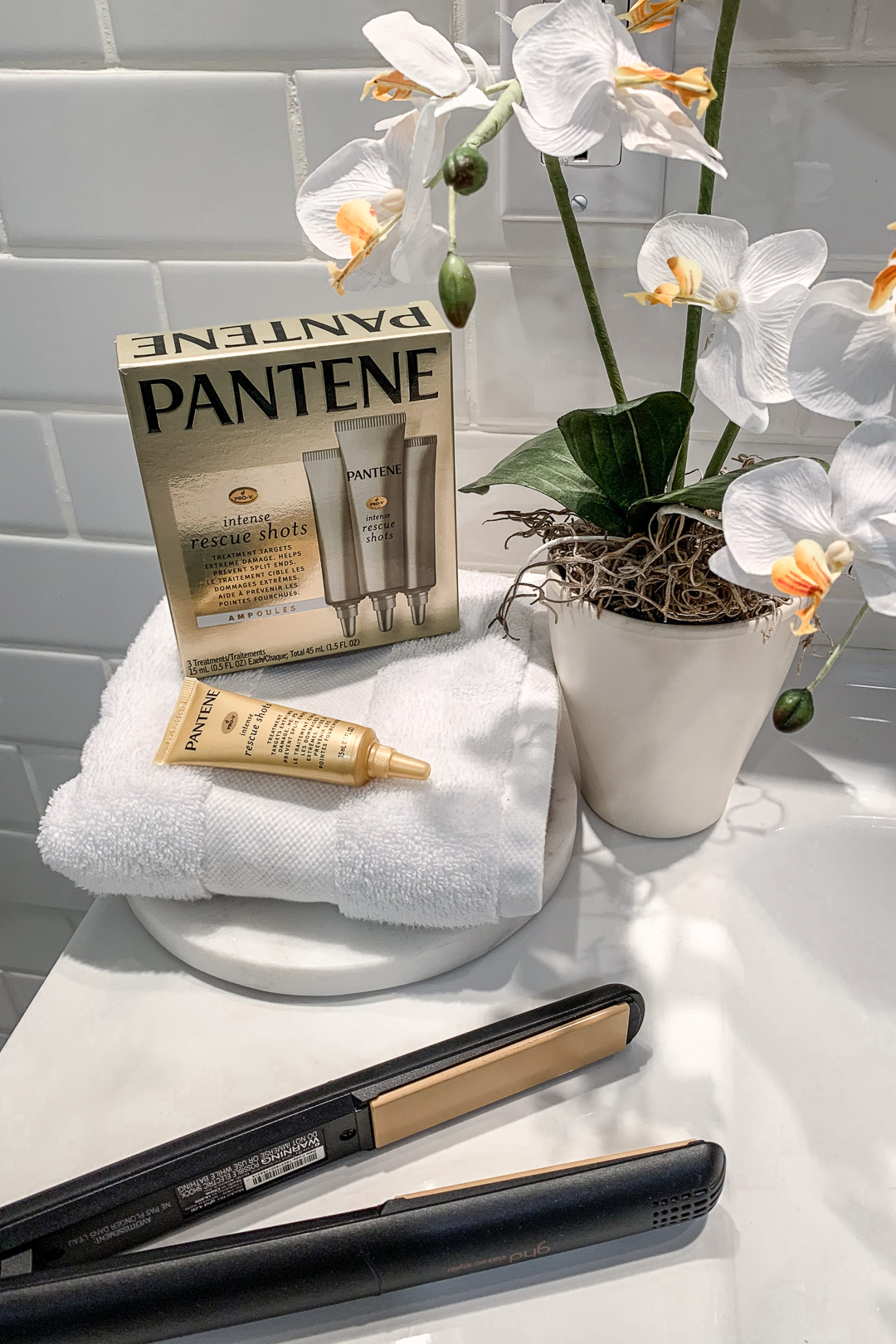 How I Keep My Hair Healthy From Styling Heat Damage using Pantene Rescue Shots Review - Nathalie Martin, woahstyle.com