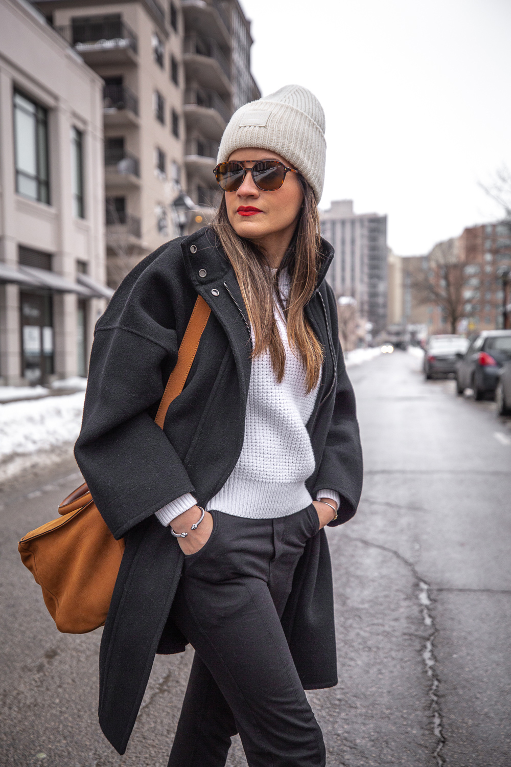 nathalie martin - vince wool coat, acne studios white sweater, pansy beanie, frank and eileen trouser joggers, alexander wang lyndon boots, givenchy medium pandora, bonlook jerry glasses, pinterest @woahstyle_7280.jpg