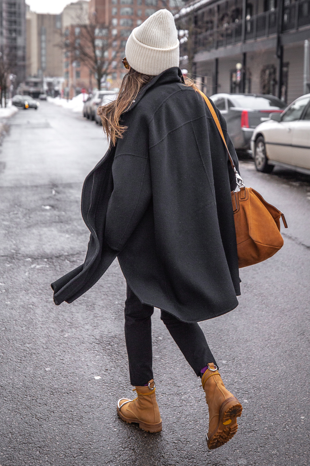nathalie martin - vince wool coat, acne studios white sweater, pansy beanie, frank and eileen trouser joggers, alexander wang lyndon boots, givenchy medium pandora, bonlook jerry glasses, pinterest @woahstyle_7302.jpg
