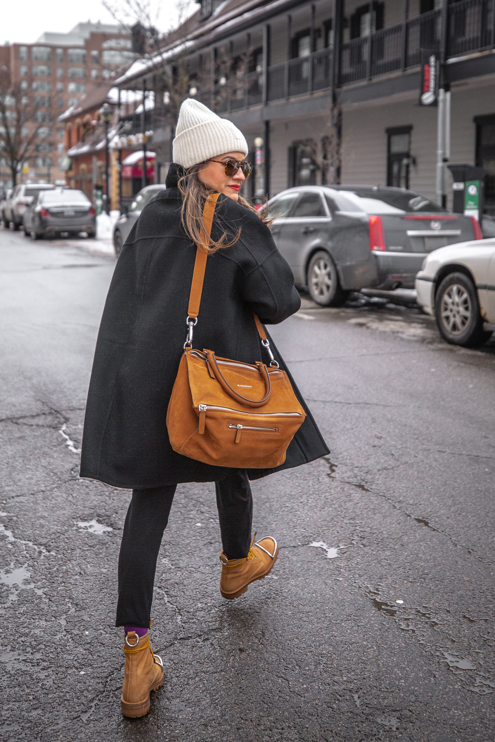 nathalie martin - vince wool coat, acne studios white sweater, pansy beanie, frank and eileen trouser joggers, alexander wang lyndon boots, givenchy medium pandora, bonlook jerry glasses, pinterest @woahstyle_7305.jpg