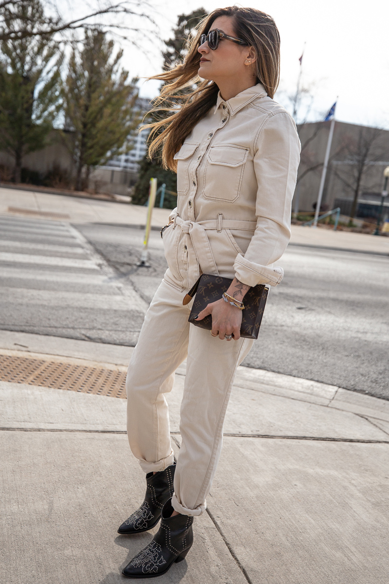 Nathalie Martin, Topshop Jumpsuit, Isabel Marant studded cowboy boots, Celine sunglasses SS2019, Louis Vuitton 19cm pouch clutch, street style, woahstyle.com_8378.jpg