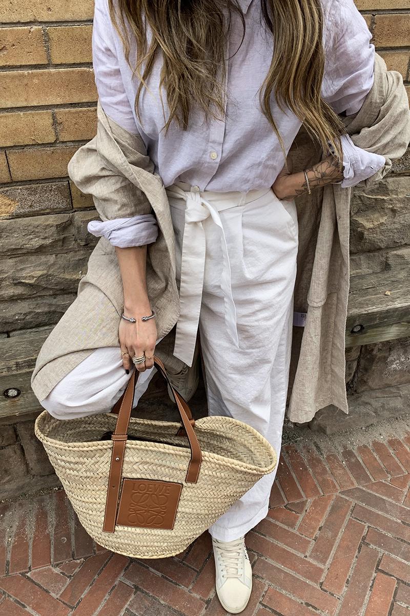 nathalie martin linen pants from uniqlo and loewe basket bag street style 1.JPG