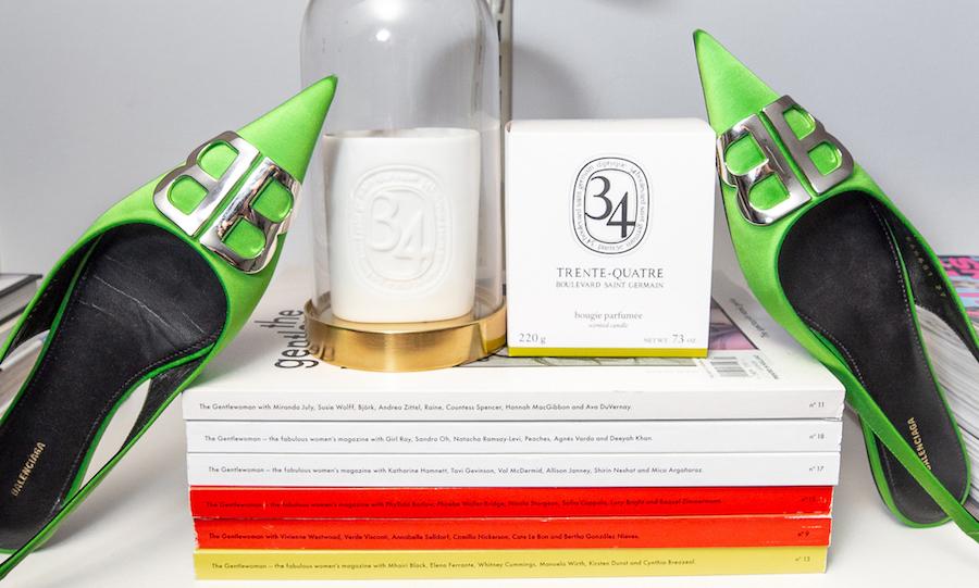 nathalie martin - green balenciaga bb mules, woahstyle.com.jpg