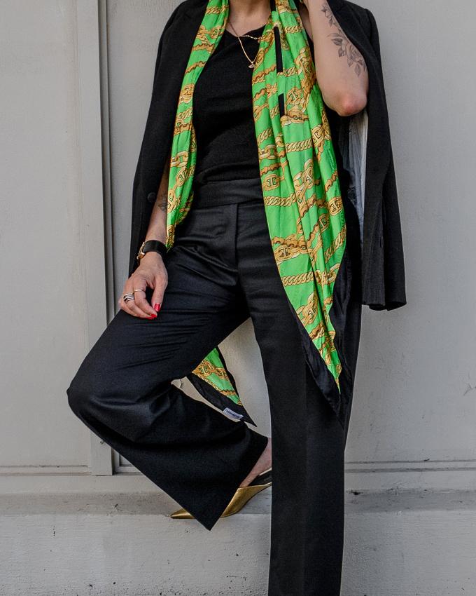 nathalie martin, fall trends 2019, balenciaga silk scarf, bronze knife mules, stella mccartney wool pants, oversized black blazer, street style, woahstyle.com_1485.jpg