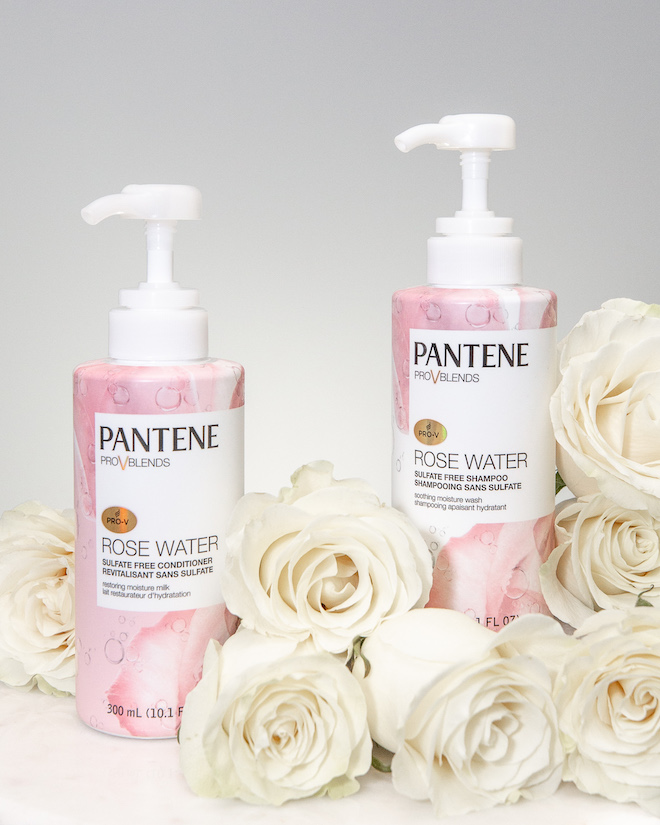 nathalie martin, pantene rose water sulfate free shampoo and conditioner honest review, best of drug store beauty, pink suit street style, woahstyle.com_FOR IG 2.jpg