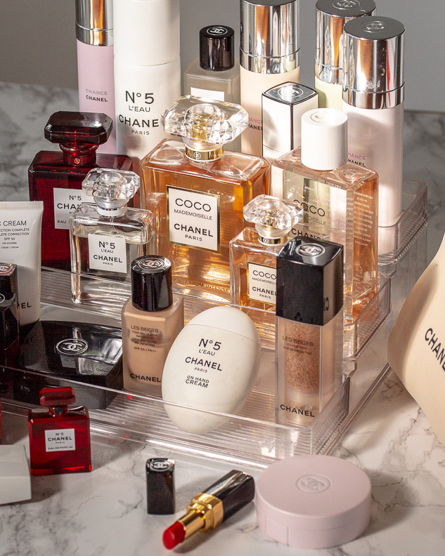 CHANEL perfume collection - Coco Mademoiselle Intense, No 5 L'eau, No 5 Red Bottle Limited Edition, All Over Spray, Velvet Body Oil.jpg