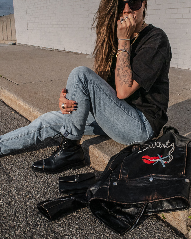 nathalie martin, saint laurent no smoking leather jacket back logo, grlfd denim karolina jeans, alexandeer wang black kennah boots, floral tattoo, ysl libre, _2937.jpg