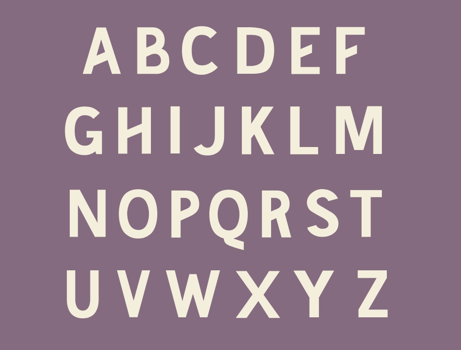 Uppercase letterforms