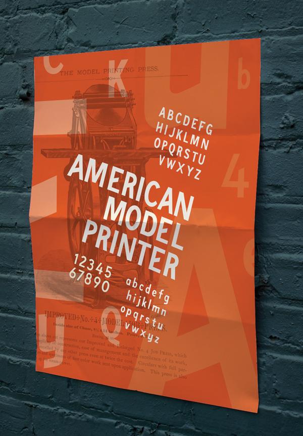 Mocked up sales poster
