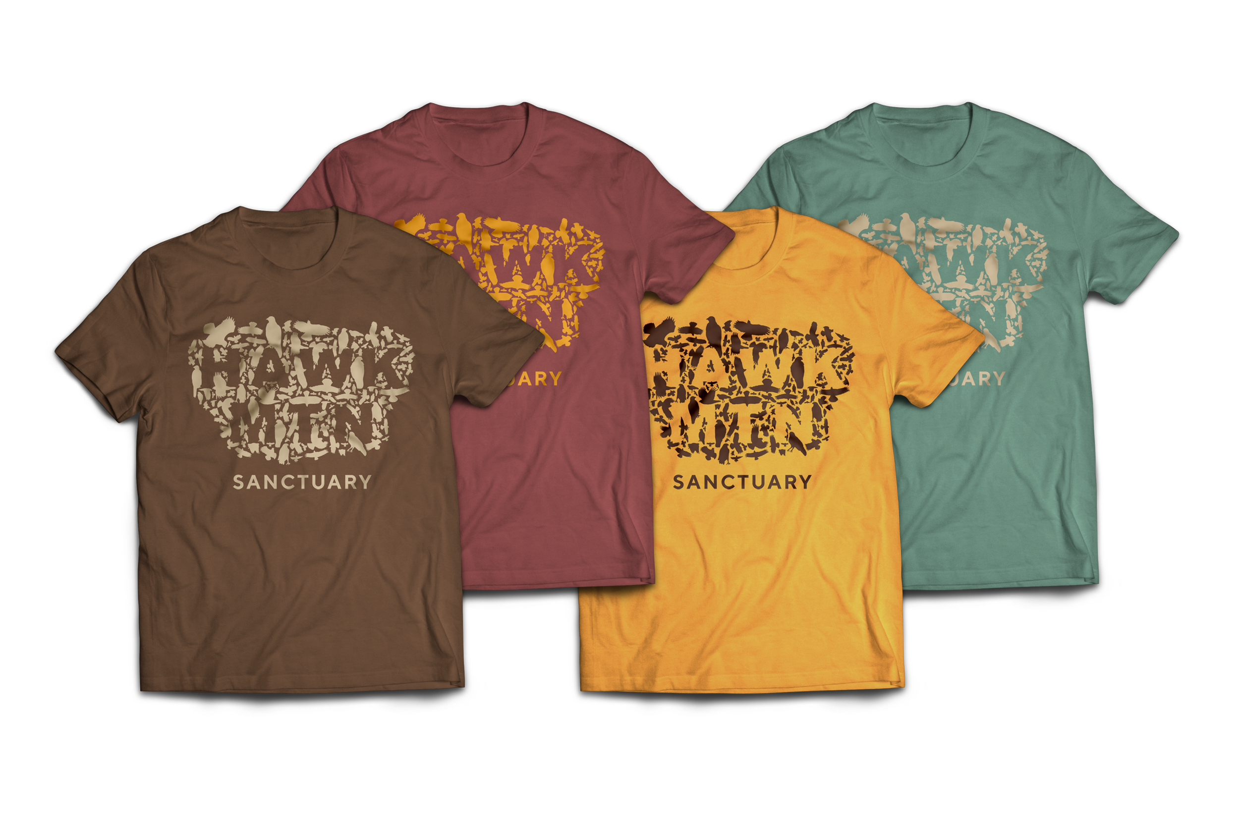 T-shirt color combinations with new mark