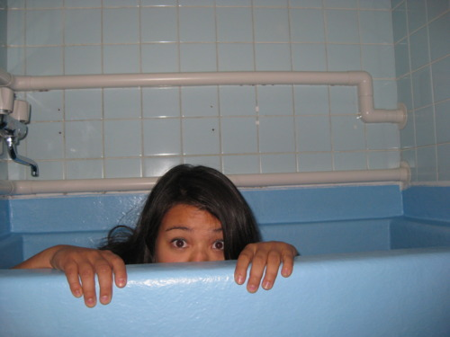 2. The depth of this ryokan's bathtub