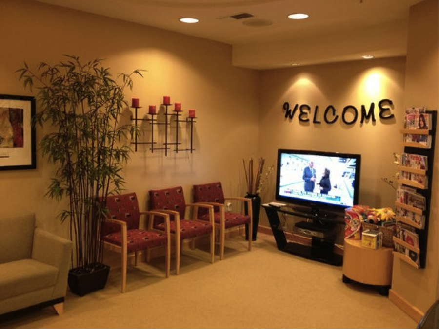 Our welcoming waiting room.