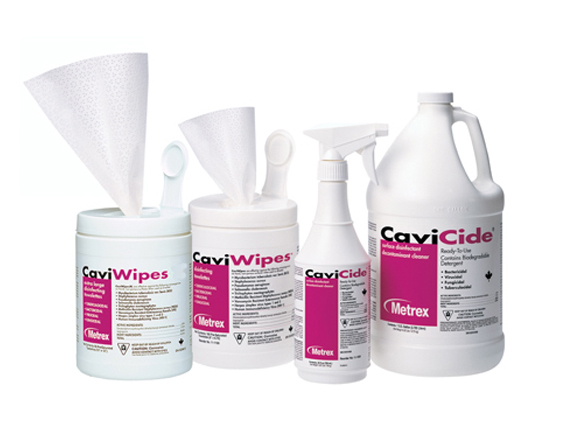Cavicide comes in wipes and sprays to adapt to a variety of needs.