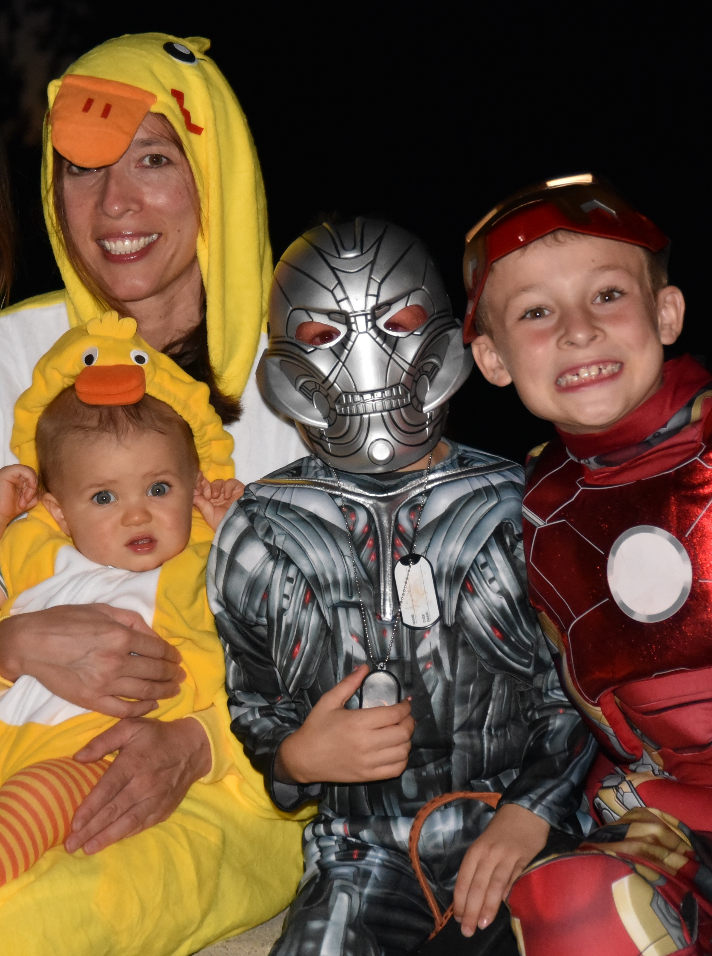 Dr. Kari and her three sons out for trick-or-treating!