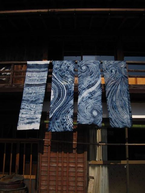 Indigo Shibori at a Japanese textile workshop