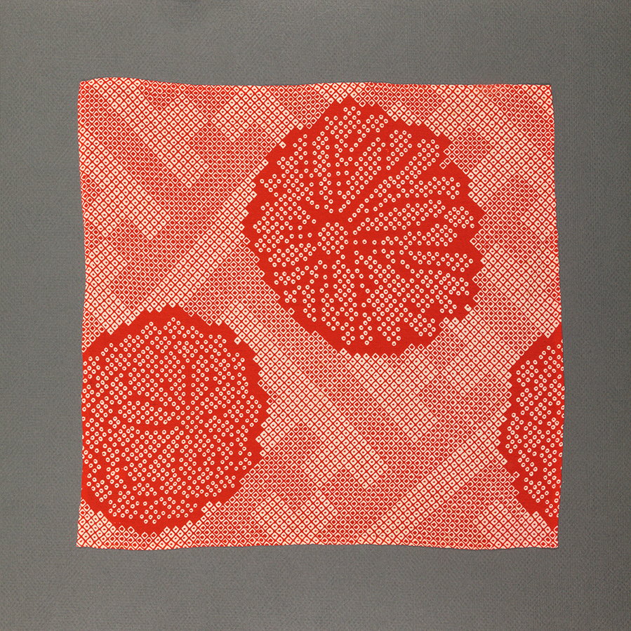 Red Chrysanthemum Pocket Square