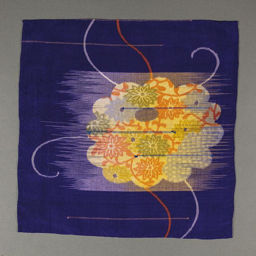 Orange Flower Pocket Square