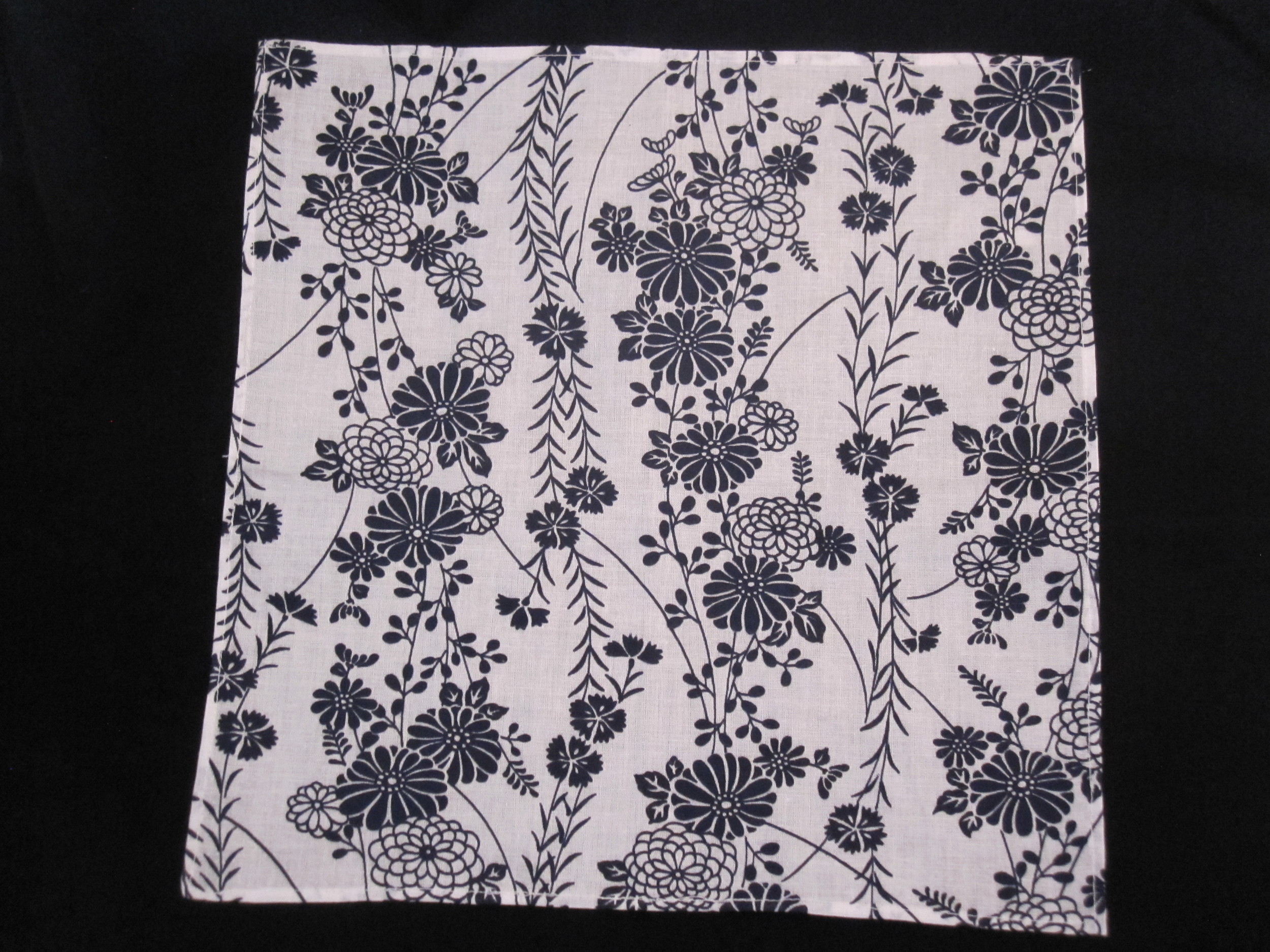 Chrysanthemum and Cherry Blossom Pocket Square