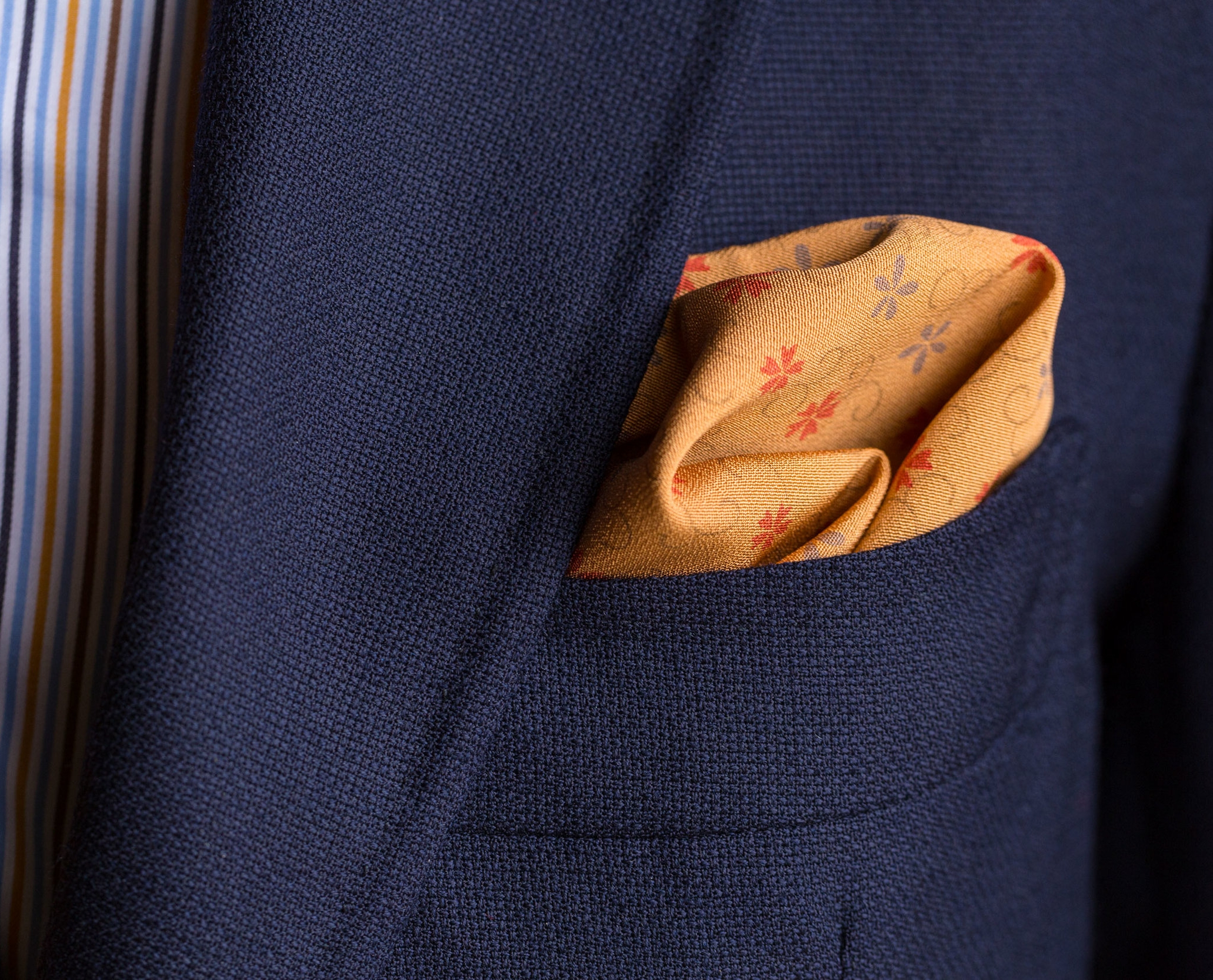 Gold Arabesque Pocket Square