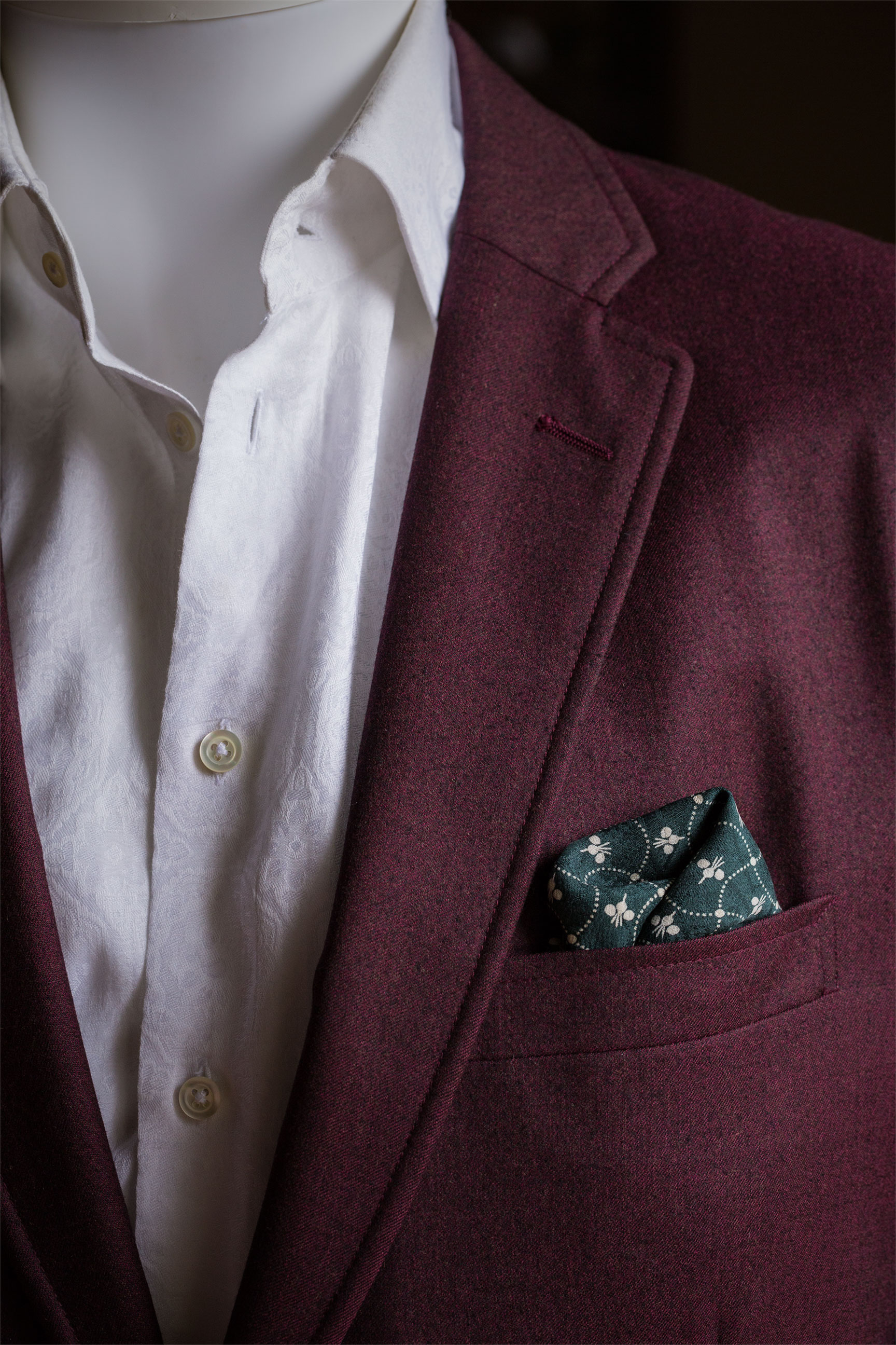 Green Turnips Pocket Square