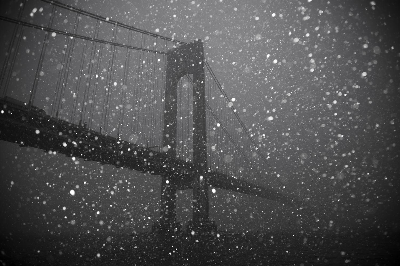 Verrazano Bridge Black and White in the snow.jp.jpg