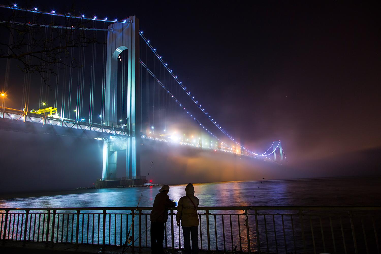 Verrazano Narrows Bridge in the Fog Fishermen.jpg