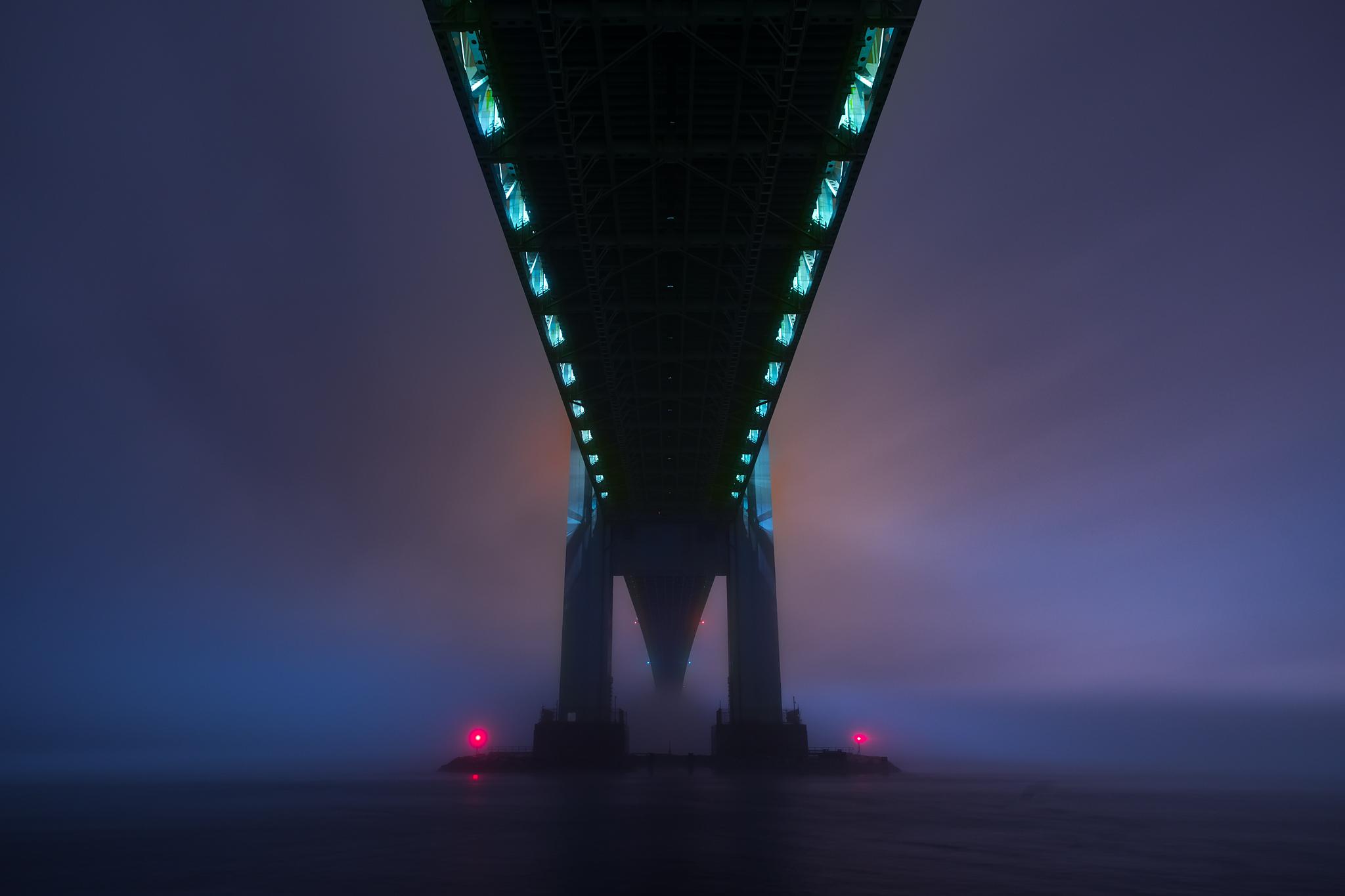A Foggy Evening Under the Verrazano-Narrows Bridge - Bay Ridge, 2018