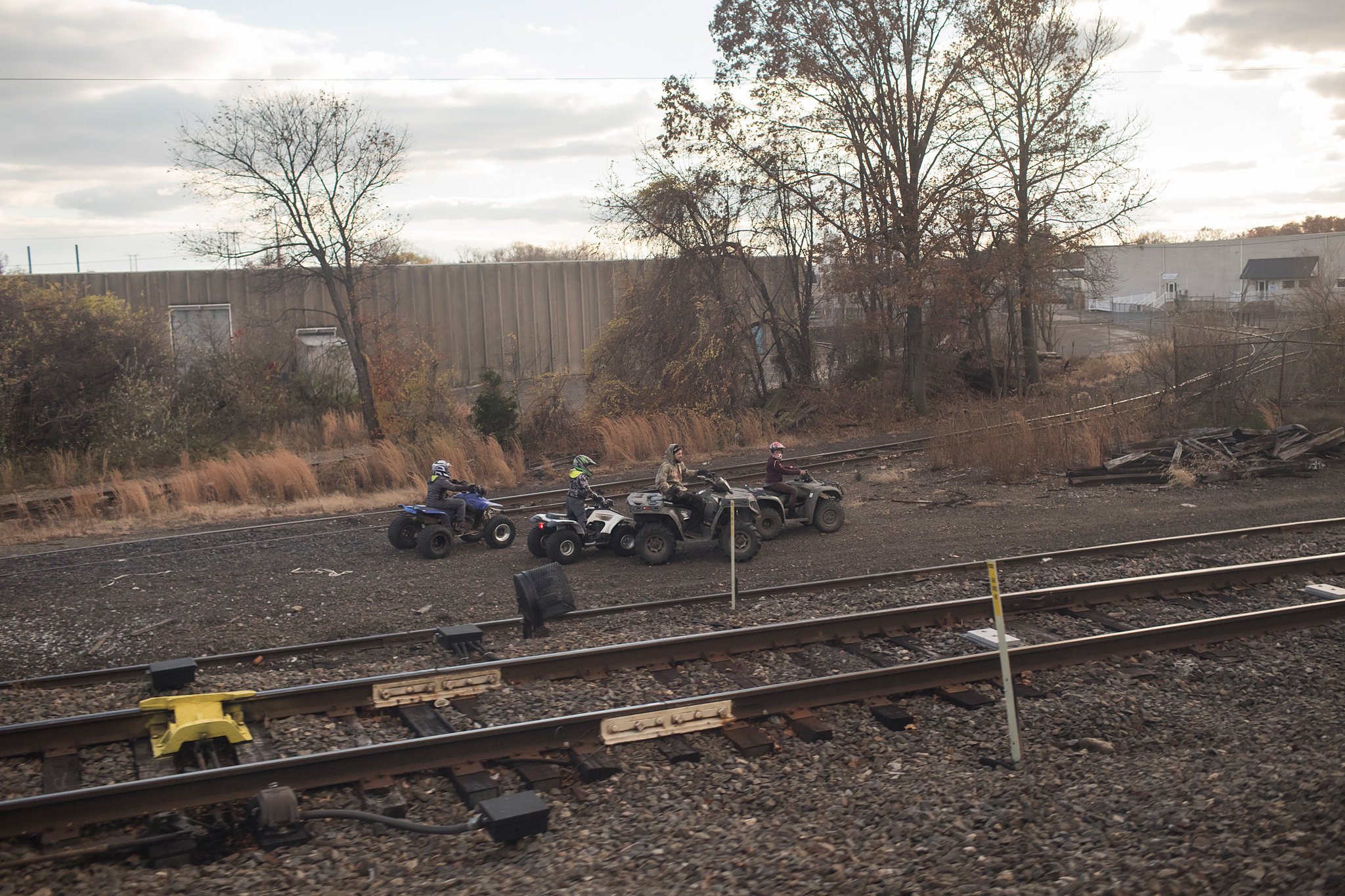 ATV Posse By The Tracks - Croyden, PA - 11.27.2016 WAS-NYP