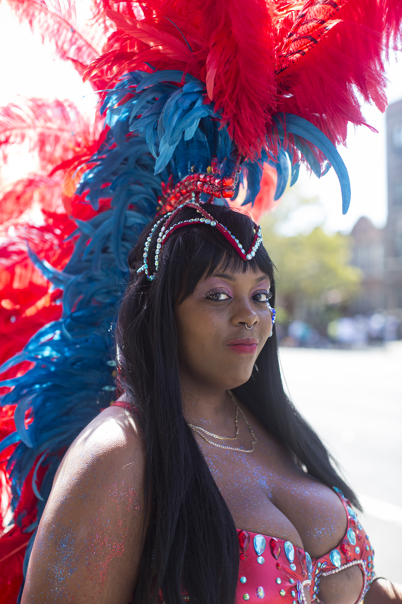 Blue and Red Mas - West Indian Day, 2015