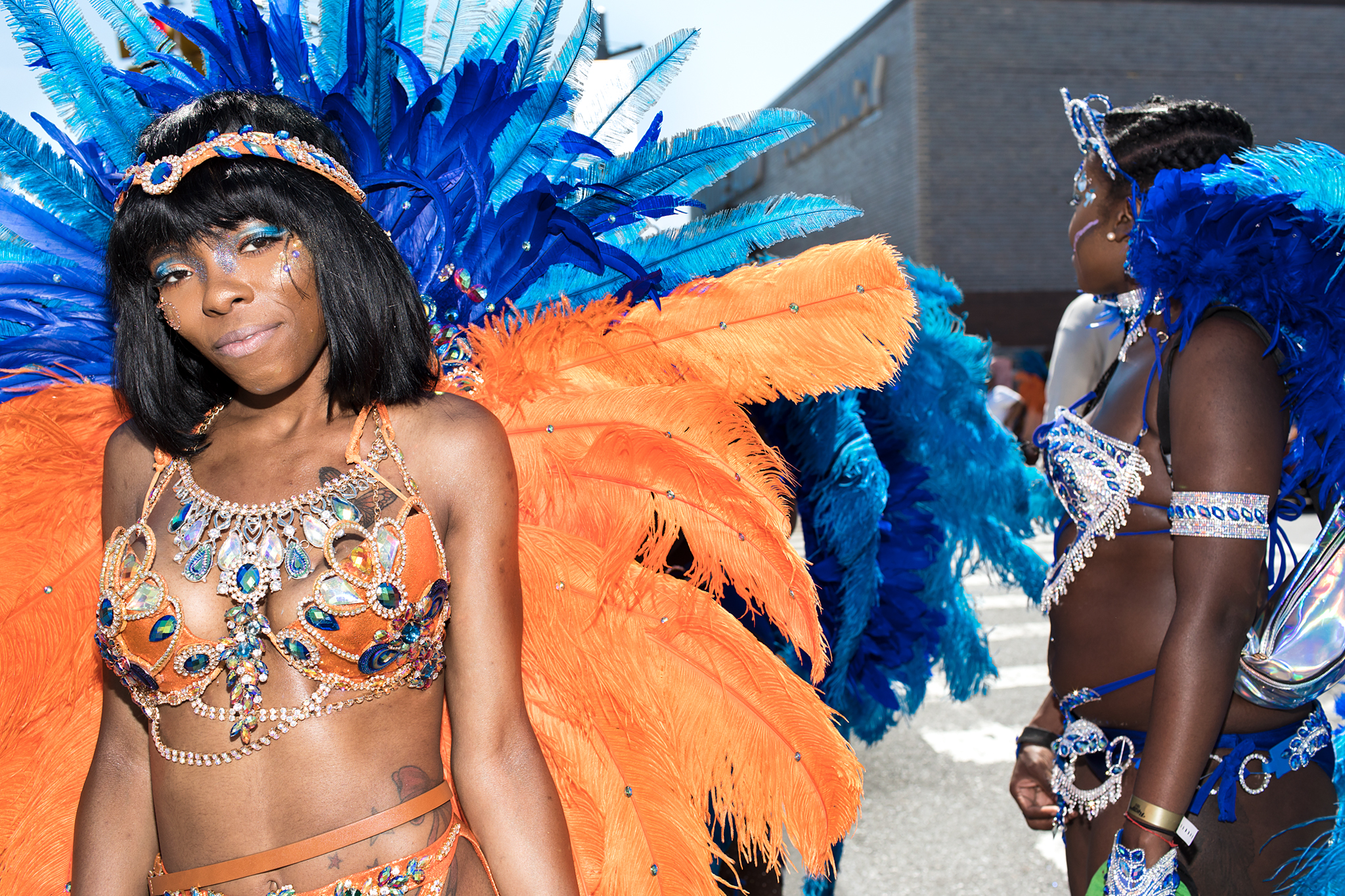 Blue And Orange Pretty Mas - West Indian Day, 2017