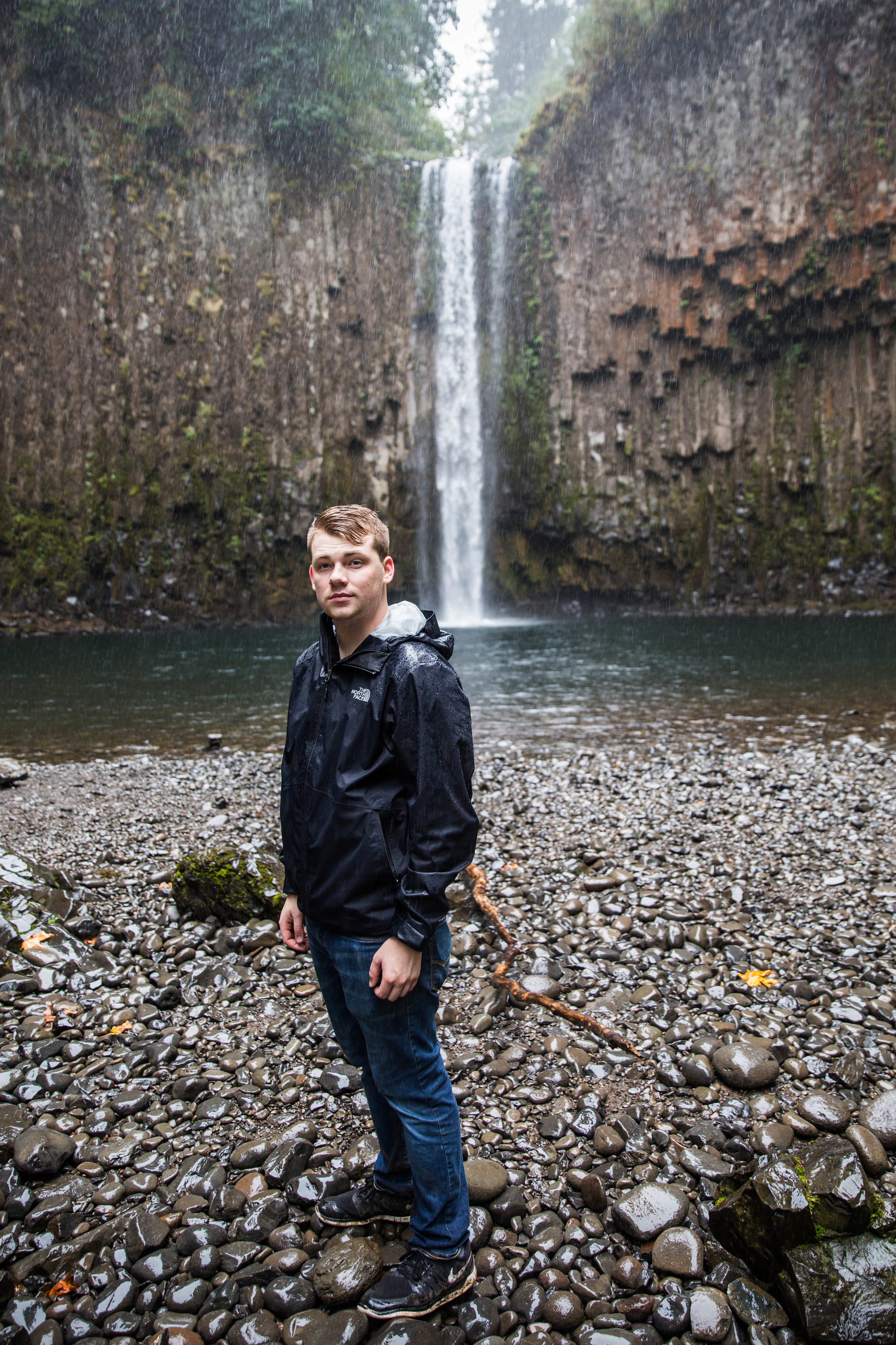 Dylan at Abiqua Falls