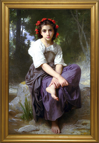 SCHOOL OF BOUGUEREAU<BR/>By the Brook