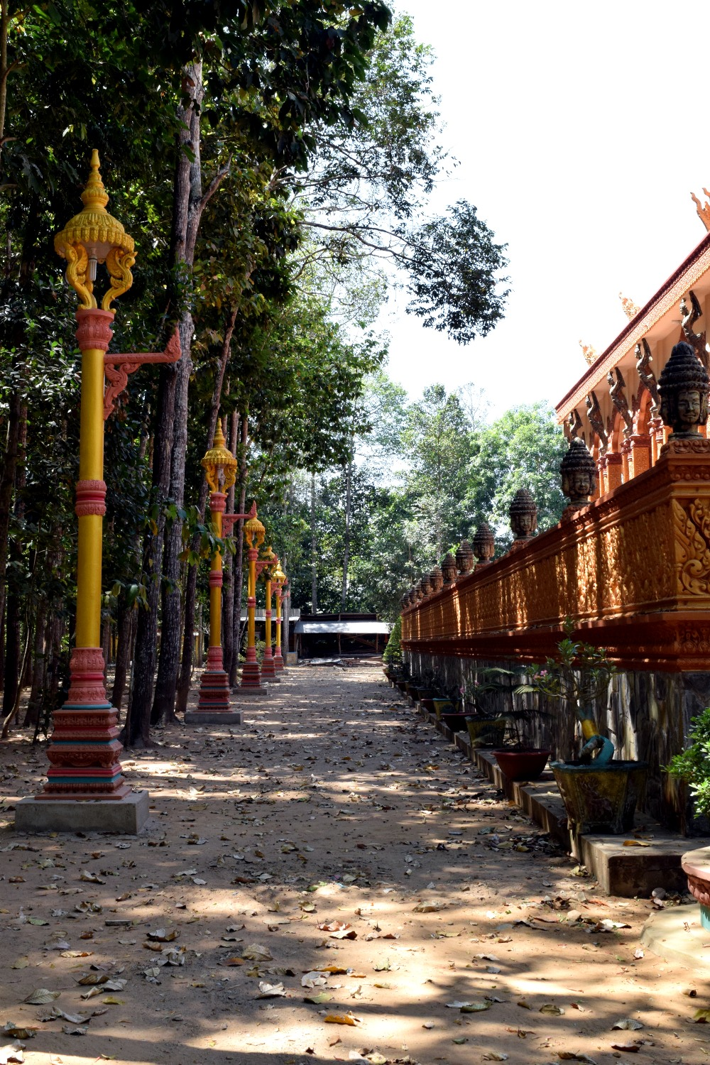 Khmer temple in the Mekong