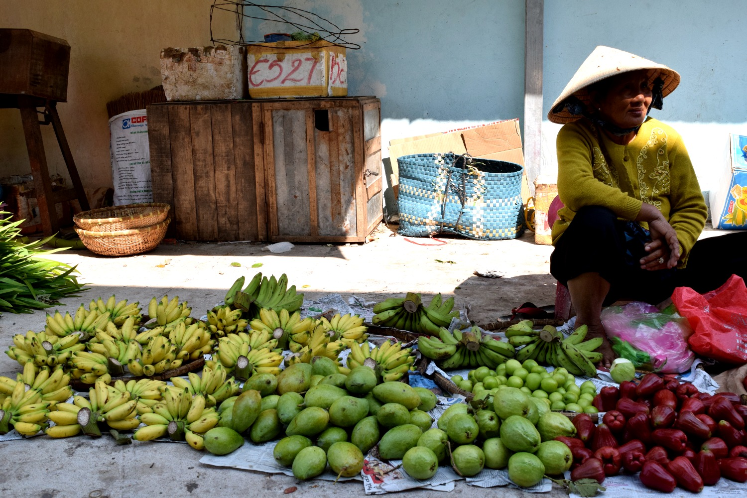 Happy banana lady in the Mekong