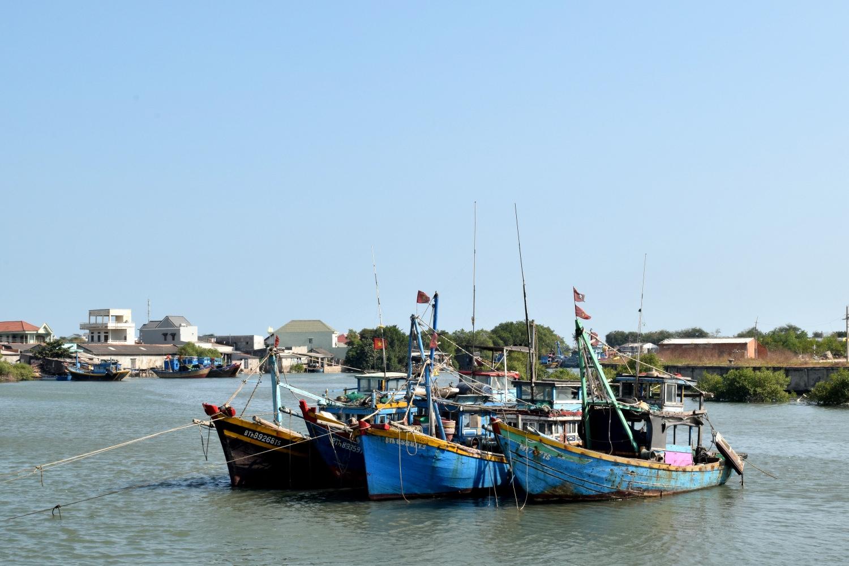 Fishing boats somewhere between Saigon and Mui Ne