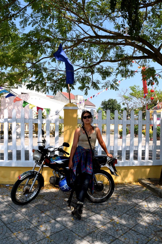 Saying goodbye to my bike in Hoi An